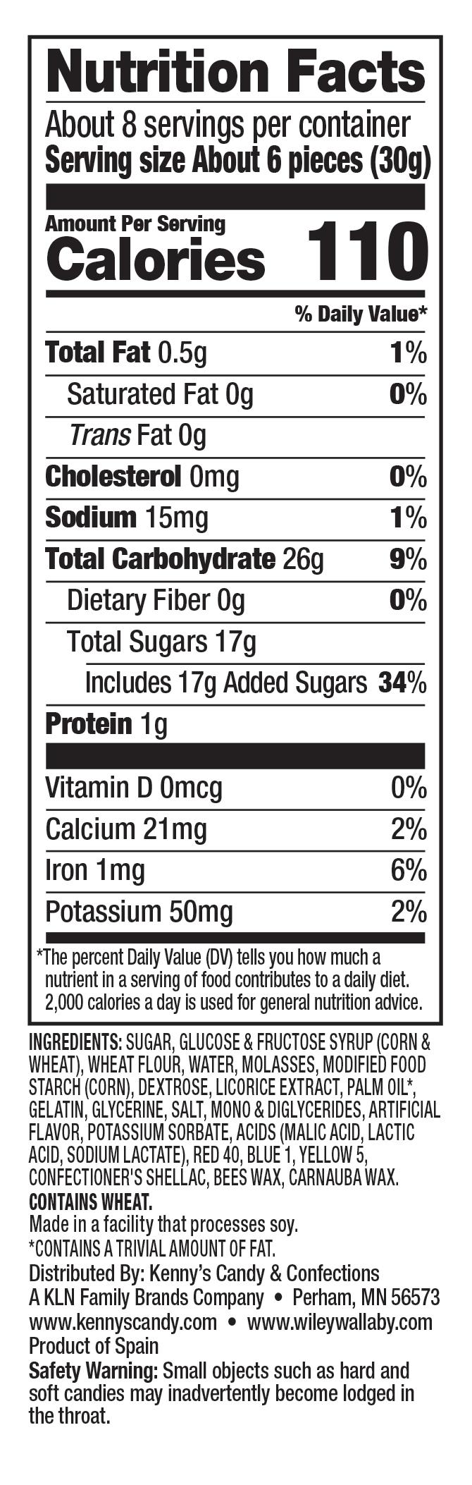 Nutrition Facts: Allsorts